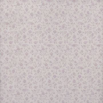 Rosalind Purple Satin Floral Toss
