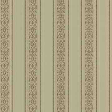 Juliette Gold Scroll Stripe