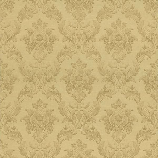 Vincent Gold Damask Silk