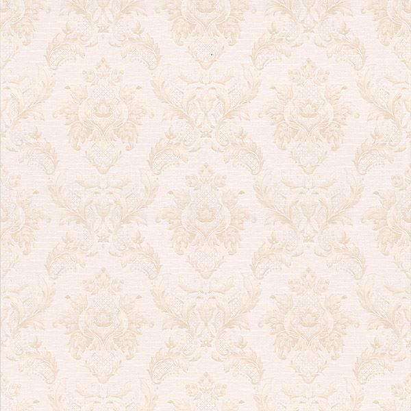Vincent Pearl Damask Silk