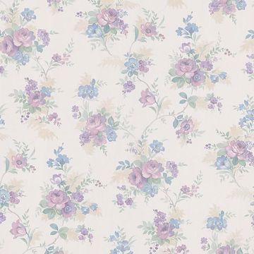 Yvette Purple Watercolour Floral