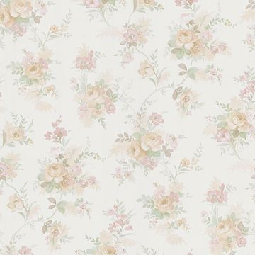 Yvette Peach Watercolour Floral