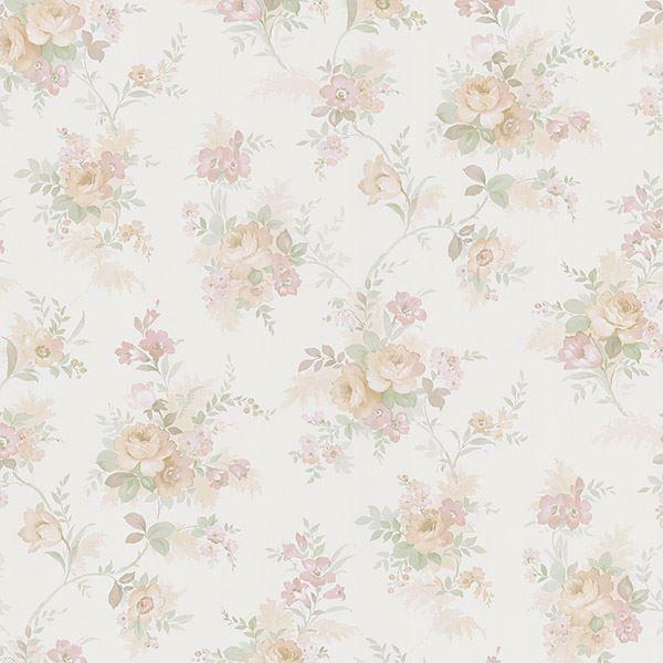 Yvette Peach Watercolour Floral
