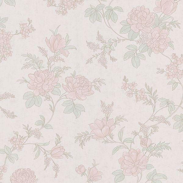 Emmylou Peach Floral Trail