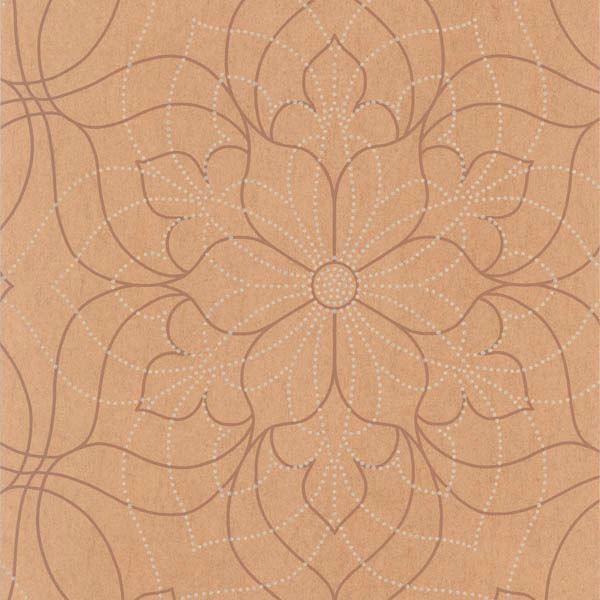 Charlotte Copper Modern Floral