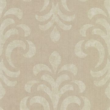 Atlantic Damask Brown Modern Damask