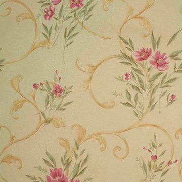 Kallista Gold Floral Scroll