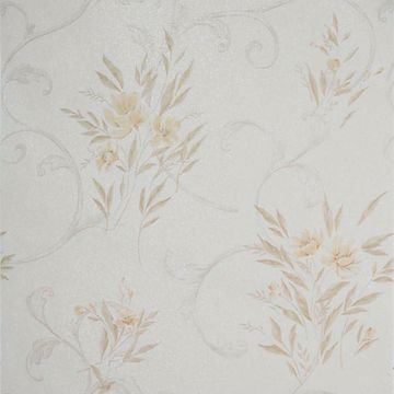 Kallista Taupe Floral Scroll