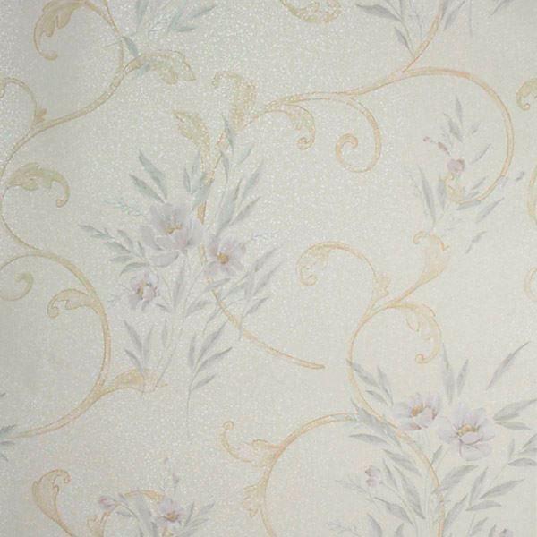 Kallista Cream Floral Scroll