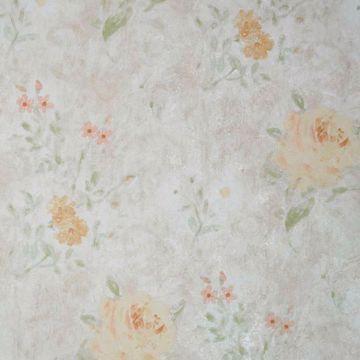 Gardner Peach Floral Scroll