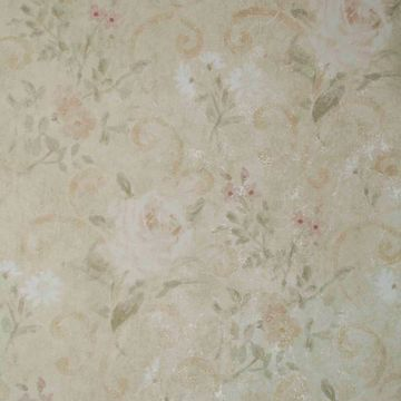 Gardner Beige Floral Scroll