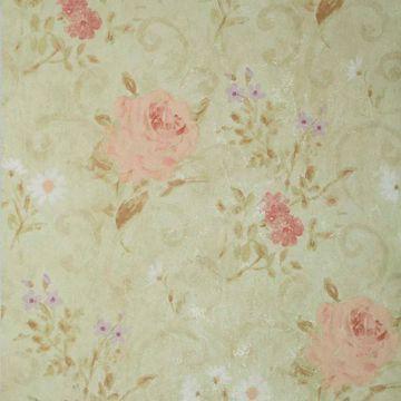 Gardner Olive Floral Scroll