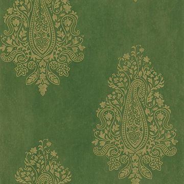 Mehndi Green Paisley