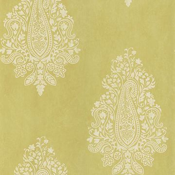Mehndi Light Green Paisley