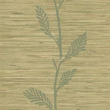 Nzimu Olive Grasscloth Leaf