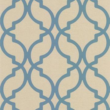 Harira Blue Moroccan Trellis