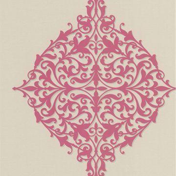Pastiche Pink Classical Motif