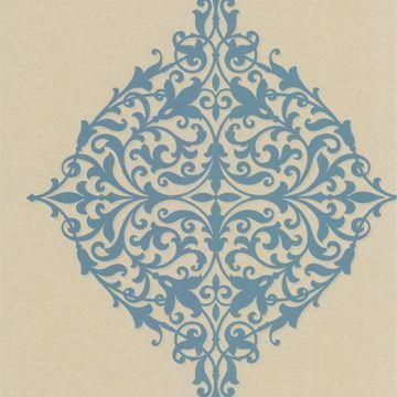 Pastiche Blue Classical Motif