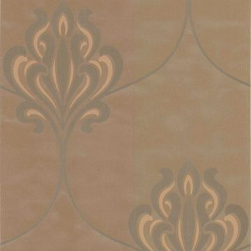 Orfeo Brown Nouveau Damask