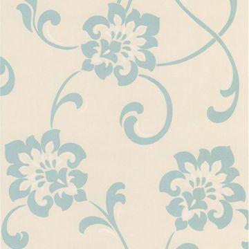 Sharon Aqua Jacobean Floral