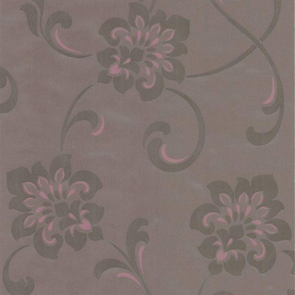 Sharon Purple Jacobean Floral