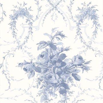 Verdant Blue Floral Bouquet