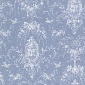 Flourish Blue Cameo Fleur