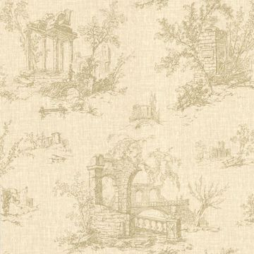 Antiquity Beige Linen Toile