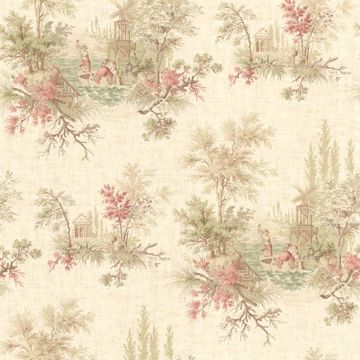 Pictorial Peach Romance Toile