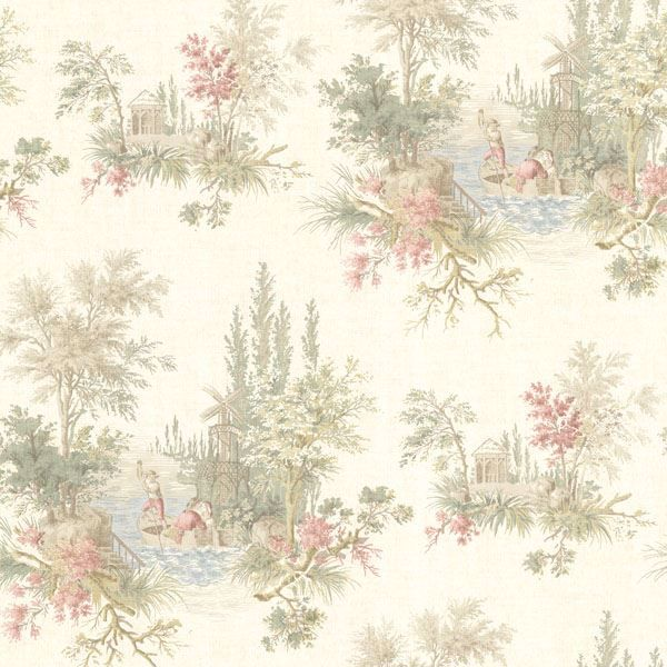Pictorial Olive Romance Toile