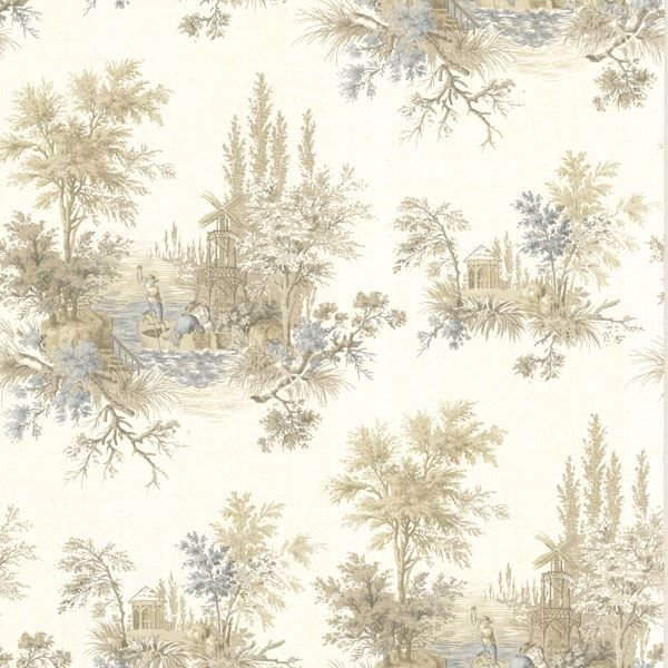 Pictorial Taupe Romance Toile