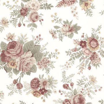 Rosa Burgundy Floral Medley