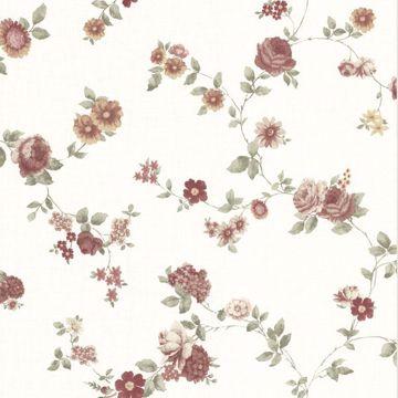 Rosetta Burgundy Floral Trail