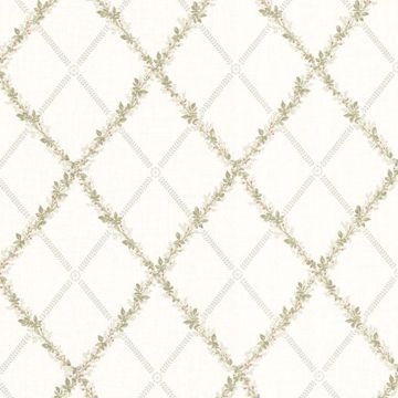 Heirloom Light Grey Harlequin Trellis