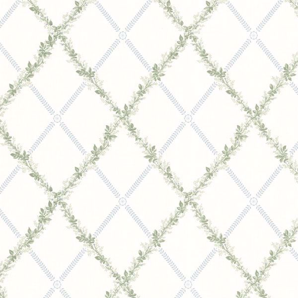 Heirloom Blue Harlequin Trellis