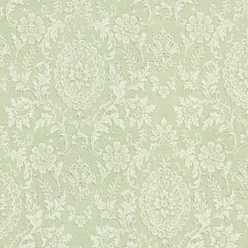 Ornament Green Damask Motif