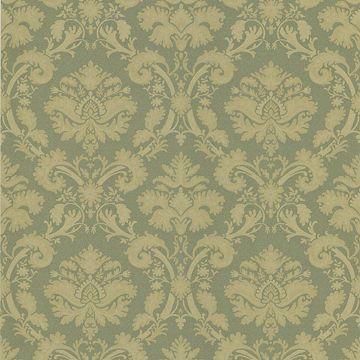 Bianca Green Fabric Damask