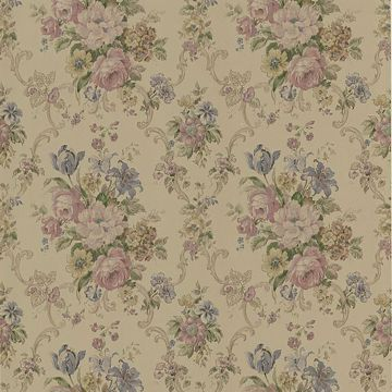 Valeria Mauve Floral Scroll