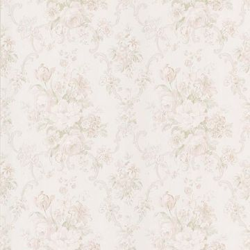 Valeria Peach Floral Scroll