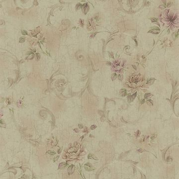 Eloise Brass Floral Scroll