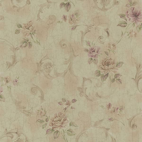 Eloise Brass Floral Scroll