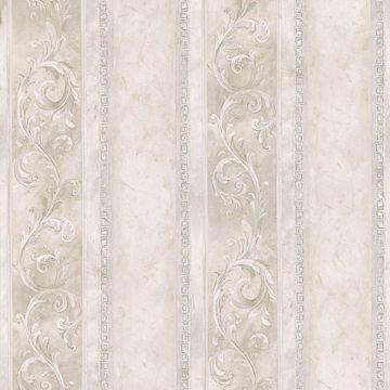 Corinth Cream Scroll Stripe