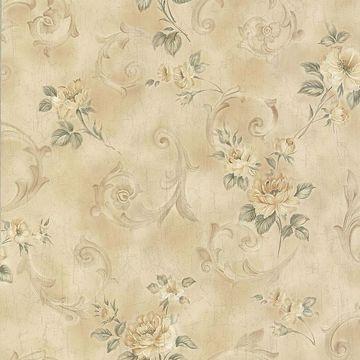 Eloise Beige Floral Scroll
