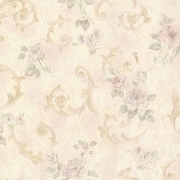Eloise Cream Floral Scroll