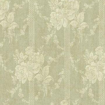 Moss Floral Bouquet Stripe