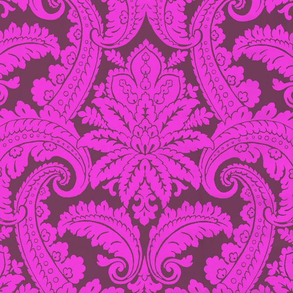 Purple Foil Damask