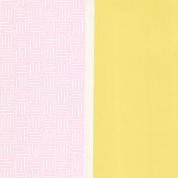Yellow Geo Square Stripe