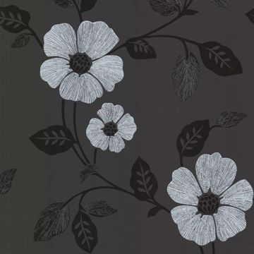 Zync Black Modern Floral