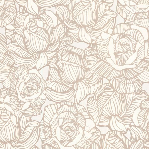 Calista Beige Modern Rose