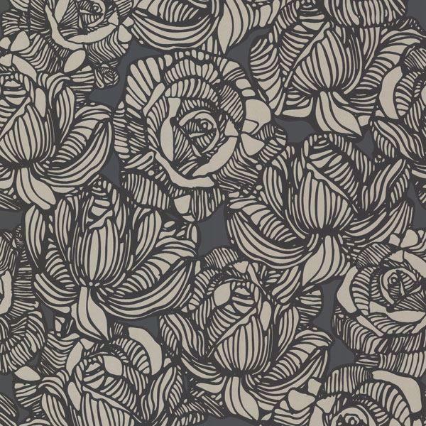 Calista Black Modern Rose